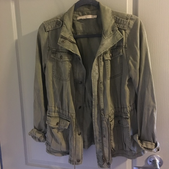 f25a714a Military Style Army Green Jacket - Women's